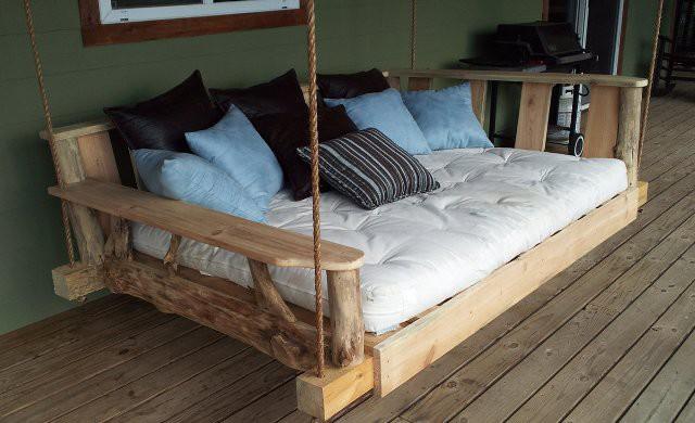 Вариант подвесной кровати. дача, идеи для дачи, своими руками
