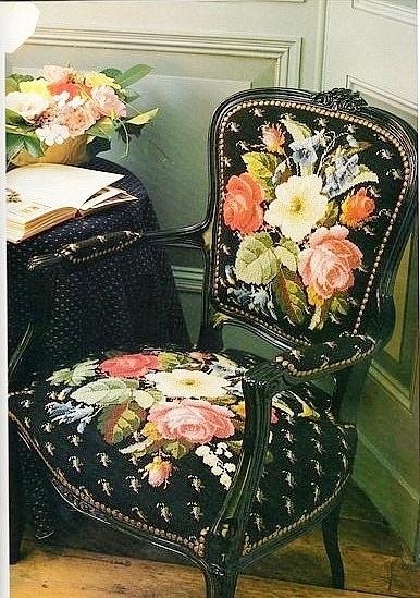 Вышивка крестом — варианты для вышивки стула. Схемы