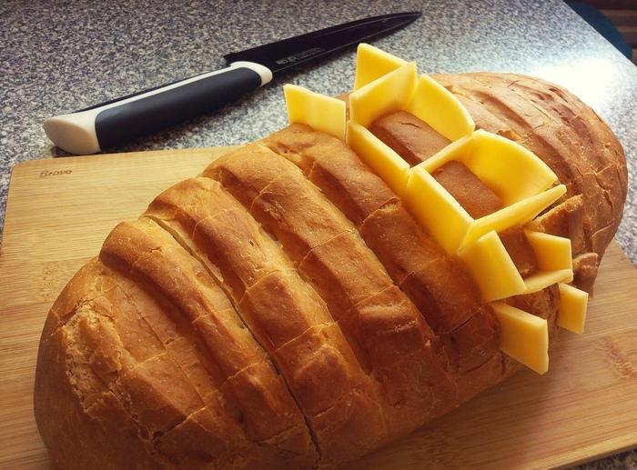 Фаршированный батон закуски,кулинария