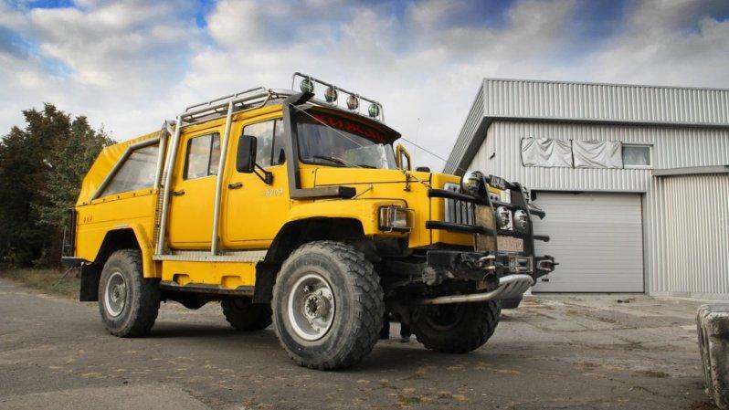 Тест-драйв самодельного горного грузовика