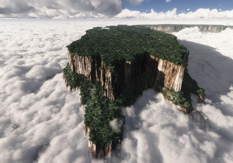 """""""Затерянный мир"""" существует в реальности Тепуи, венесуэла, интересное, природа"""
