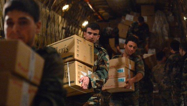 Россия раздала сирийцам более 6 тонн гуманитарных грузов