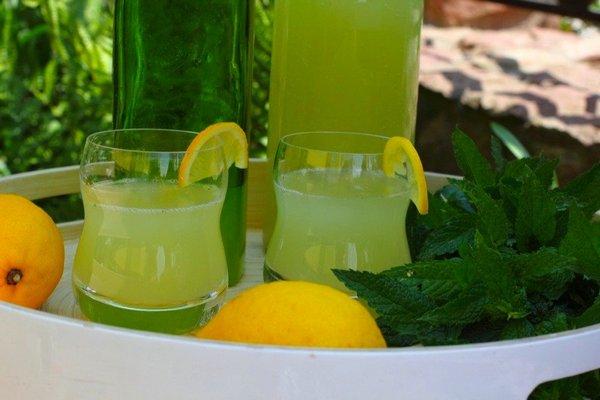 Домашний натуральный лимонад с мятой