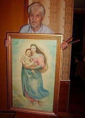 Рисунок карандашами. Автору 87 лет!