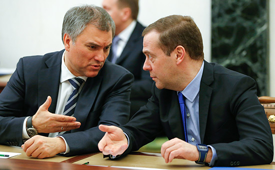 Володин призвал депутатов «защитить» Медведева от Навального