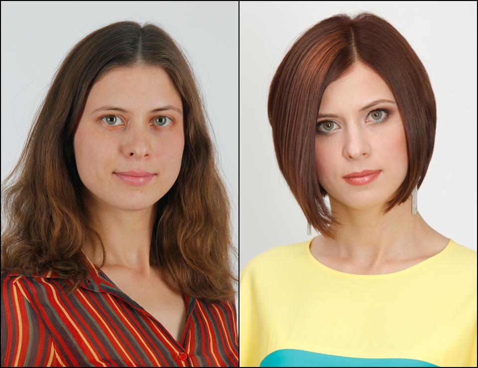 как прическа меняет лицо фото наоборот