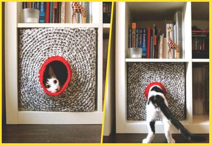 Домики для кошек: удачные идеи, обеспечивающие питомцам максимум комфорта интерьер,переделки,своими руками,сделай сам