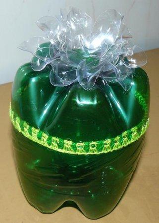 Круглая шкатулка из пластиковой бутылки