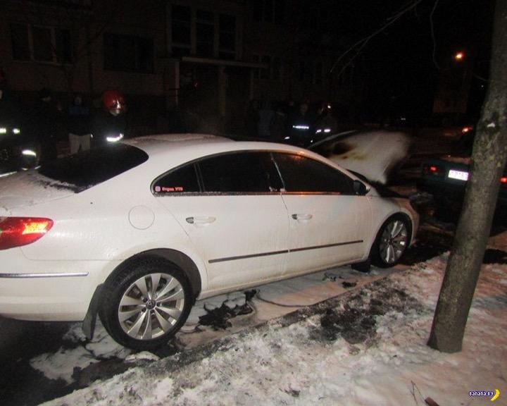 Витебскому влогеру спалили машину