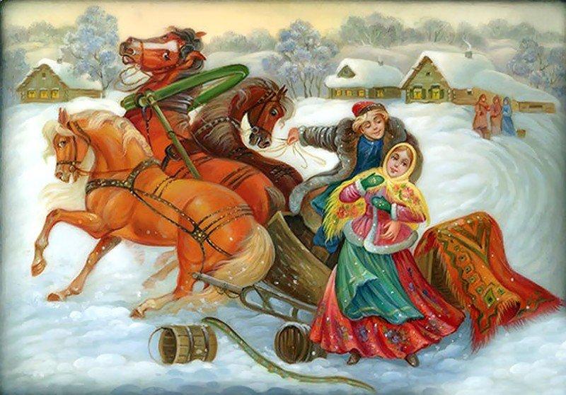 русские народные картинки зима ресурсом фотография