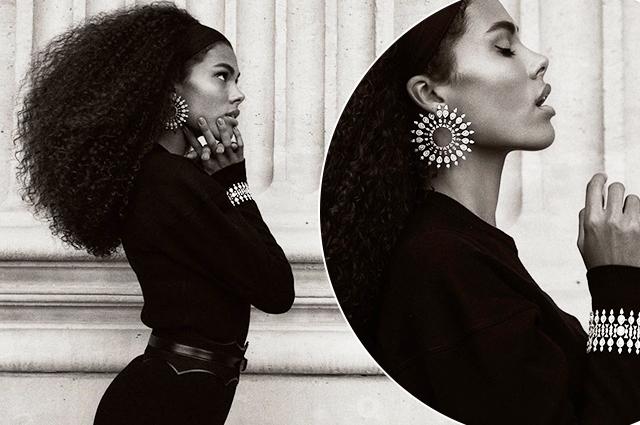 Этюд в черно-белых тонах: Тина Кунаки в новой рекламе ювелирного бренда Звезды в рекламе