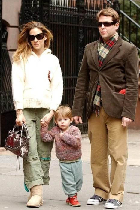 Сара Джессика Паркер и Мэттью Бродерик с сыном. / Фото: www.wp.com
