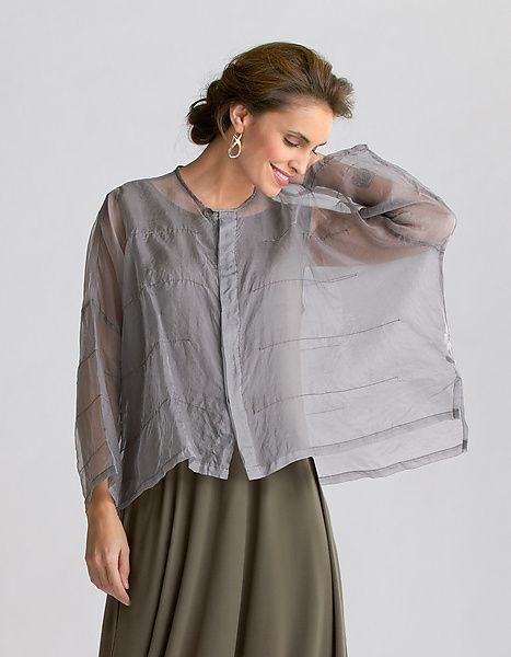 """Organza Pintuck Jacket"" Silk Jacket by Planet Clothing on Artful Home:"