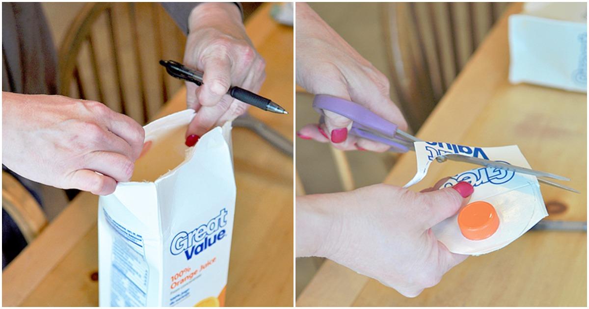 Практичная идея использования коробки из-под сока с пользой для кухни