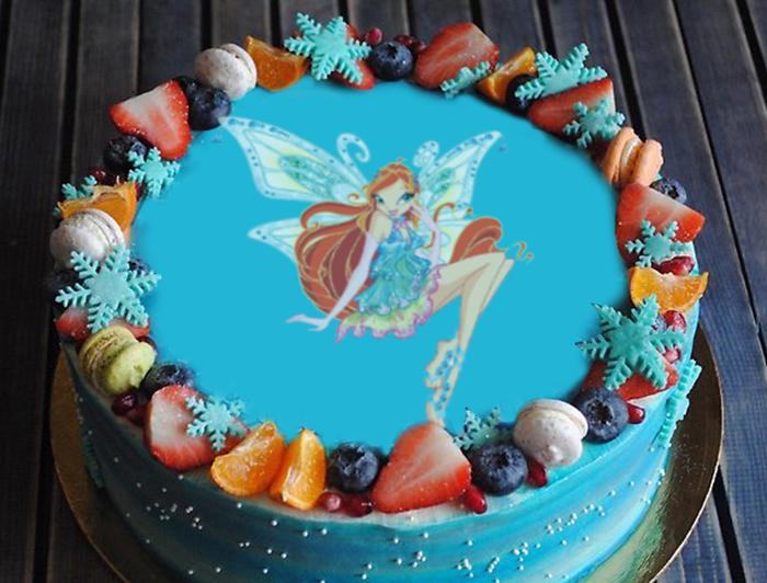 Простой рецепт торта -Фея- с вафельной картинкой