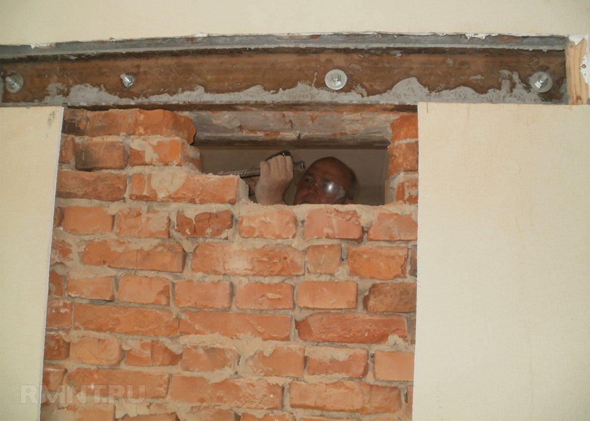 пропилить проем в кирпичной стене