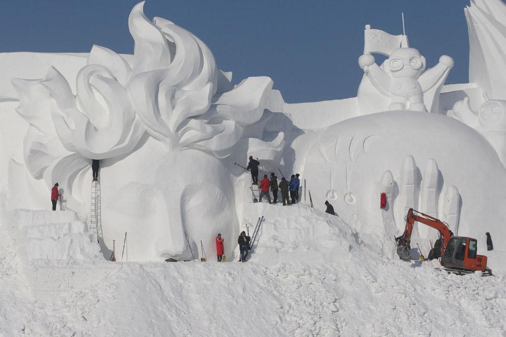 Как прошел фестиваль льда и снега в Харбине 2019