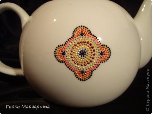 Красивая точечная роспись заварочного чайника: мастер-класс и идеи мастер-класс,роспись,рукоделие