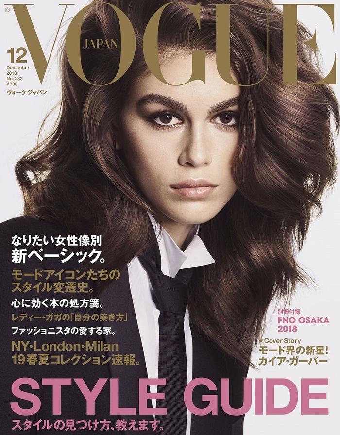 Фотосессия Кайи Гербер для Vogue Japan декабрь 2018