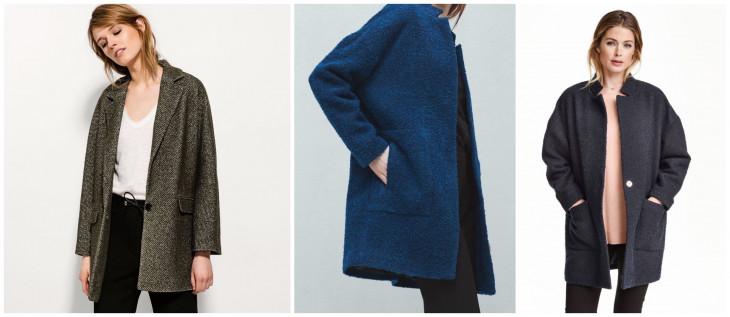 С чем носить пальто букле