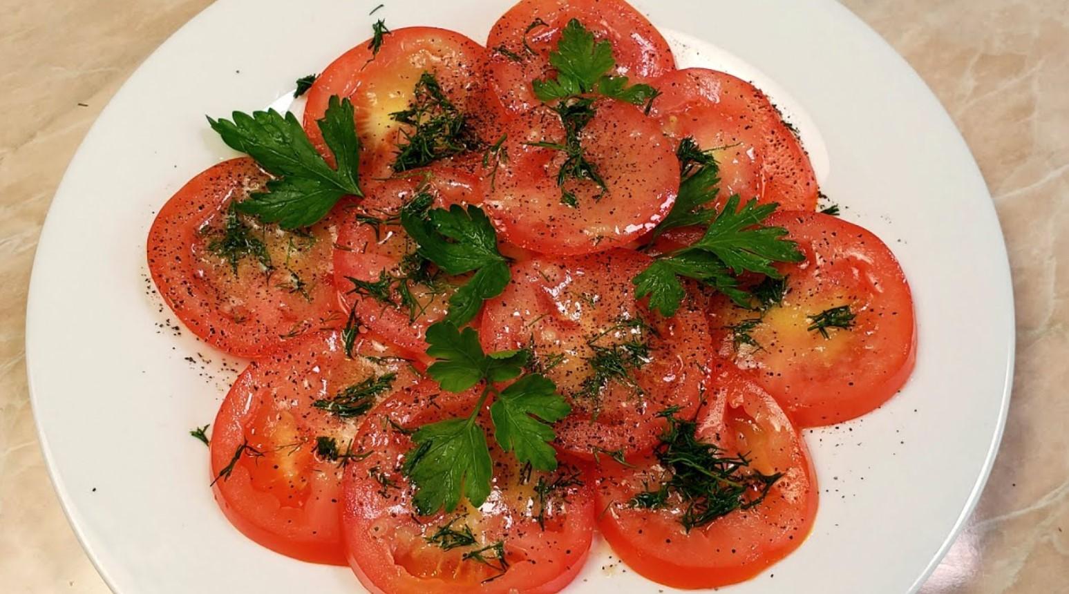 Самый простой рецепт вкусной закуски из помидоров, который просят все мои гости