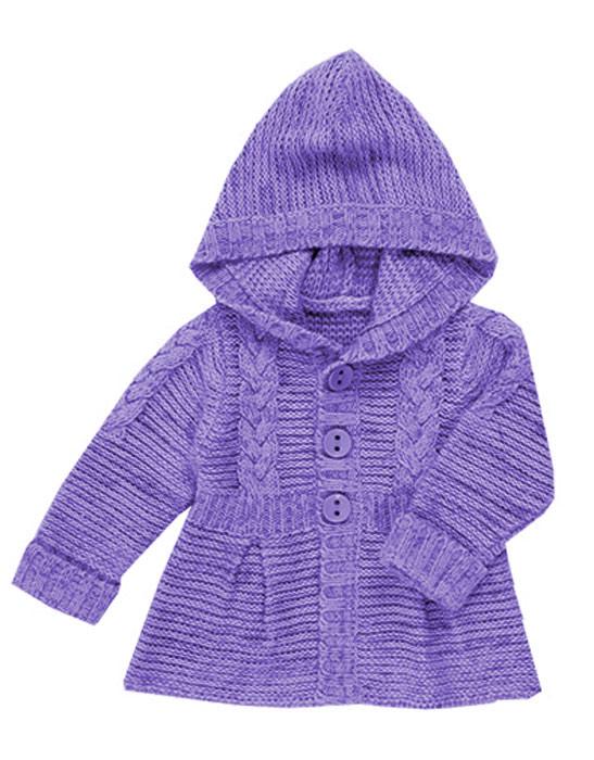 ПЕТЕЛЬКА К ПЕТЕЛЬКЕ. Вязаный жакет-пальто для девочек