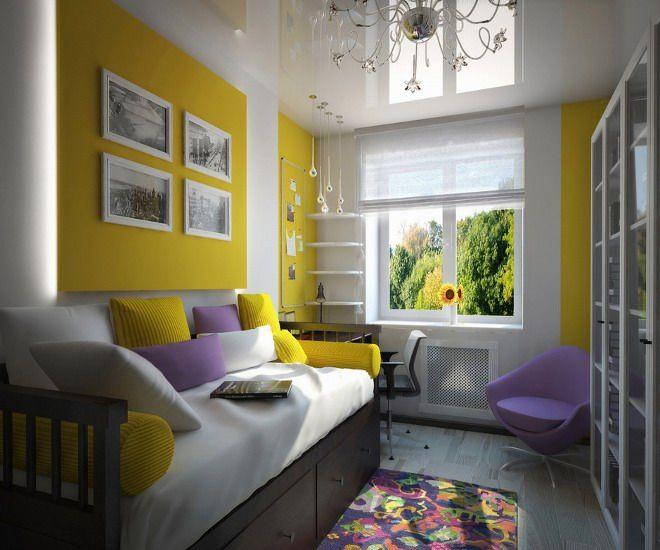 дизайн детской спальни салатовый