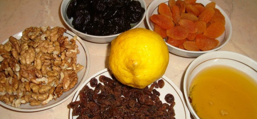 рецепт чернослив курага орехи мед