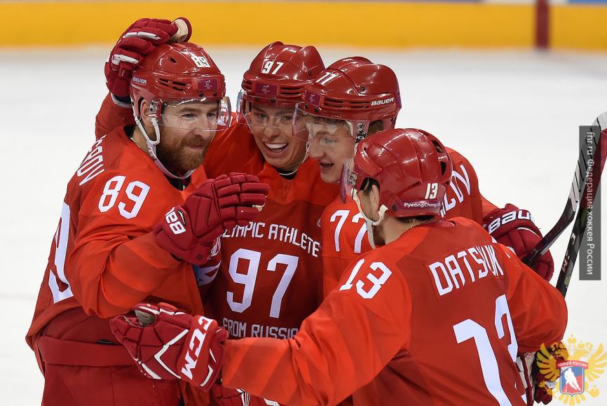 Хоккеисты из РФ сразятся с Чехией в полуфинале ОИ-2018 в Пхенчхане