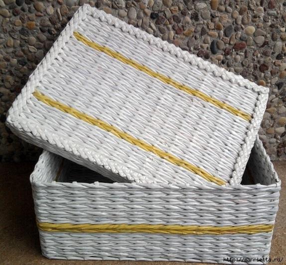 Плетение из газет. Мастер-класс и примеры применения фигурной косички (10) (574x532, 262Kb)