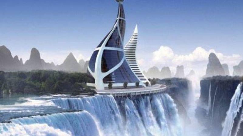 И немного из высотной архитектуры будущего. ГЭС архитектура, интересное, концептуальные фантазии, фабрик аидей
