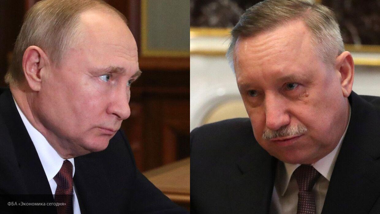 Беглов отчитался перед Путиным за выделенные деньги для Петербурга на борьбу с COVID-19