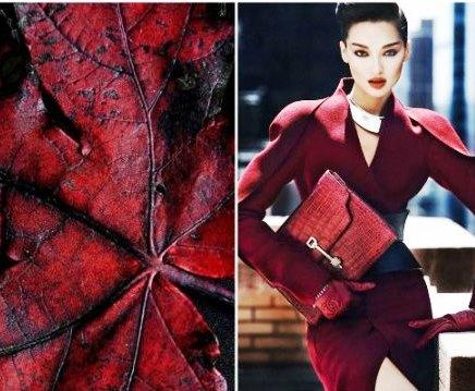 Сочетание цвета бордо в одежде