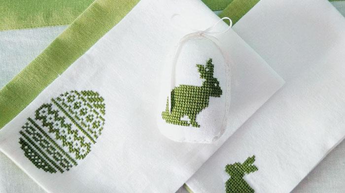 Вышивка крестом — схемы для вышивания пасхального полотенца