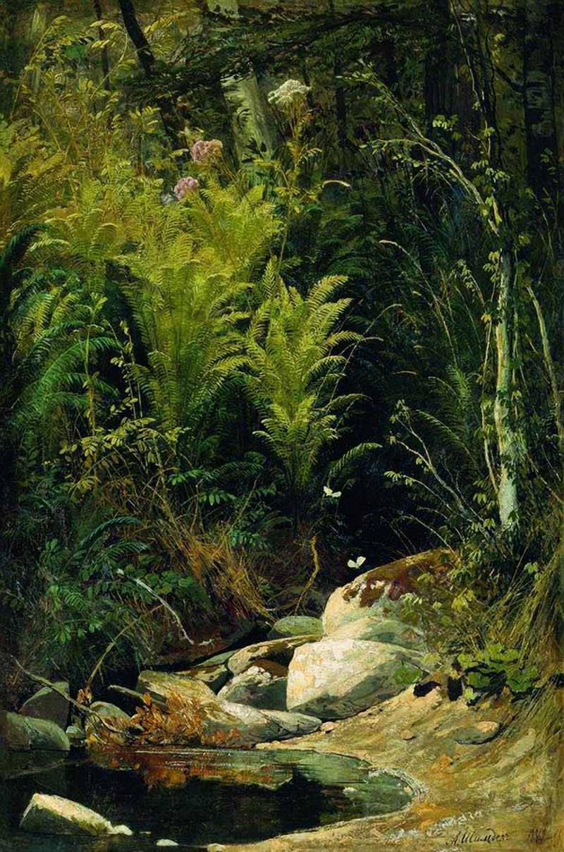 рододендроны картина ручей в лесу шильдера конкурсе