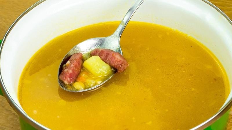 как приготовить гороховый суп с гренками