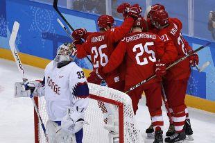 Российские хоккеисты вышли в полуфинал ОИ-2018