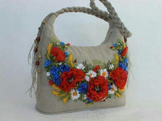 Нежная вышивка лентами: 20 удачных идей декора одежды и сумок вдохновение