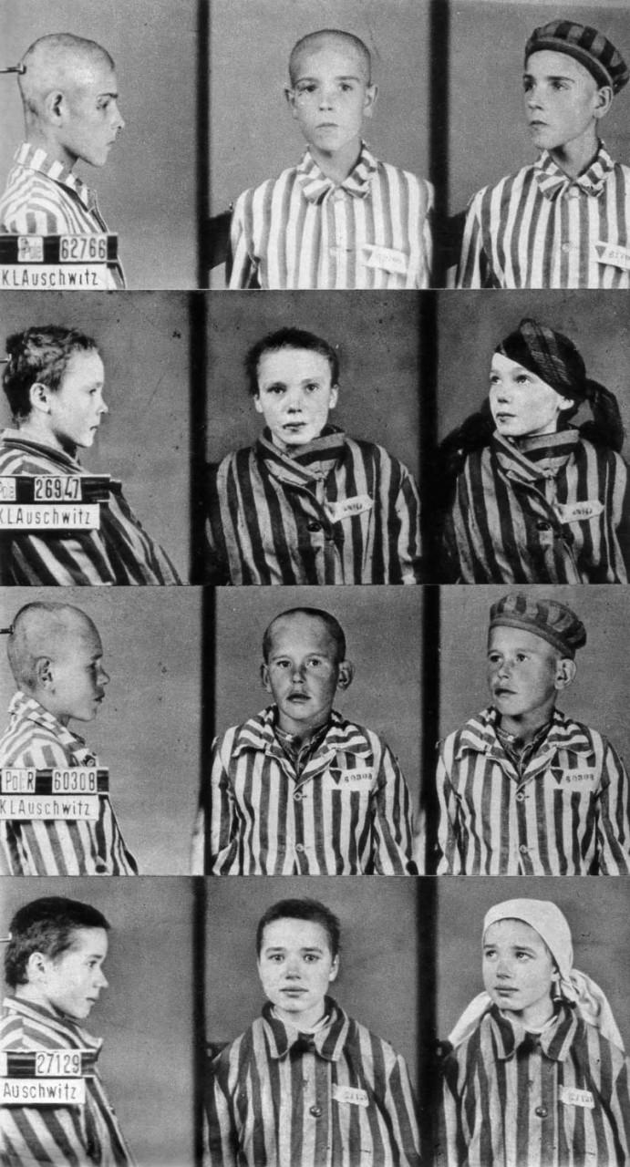 Учетные фотокарточки детей-узников концлагеря Освенцим, 1942 год. было, история, фото