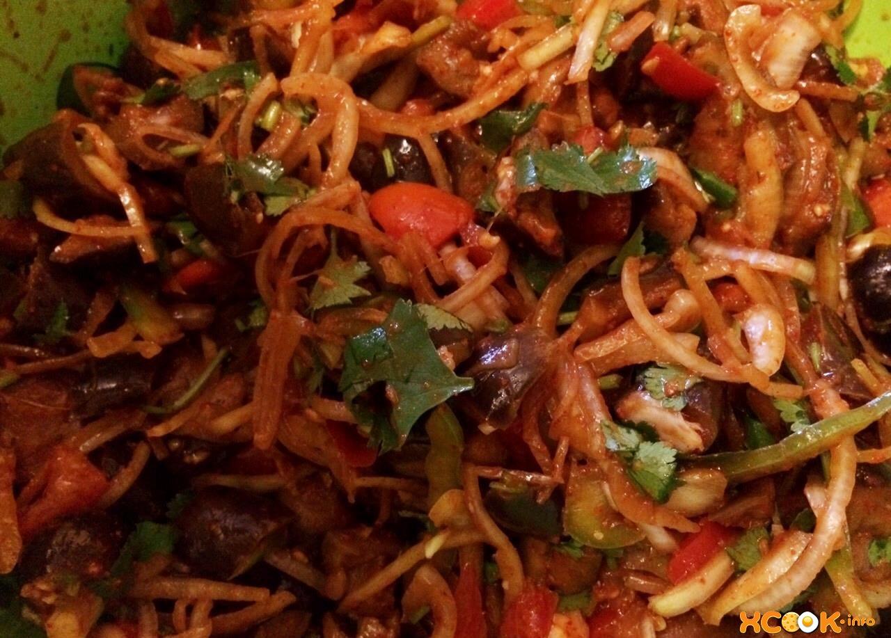 Кади-хе из баклажанов по-корейски - рецепт пошаговый с фото