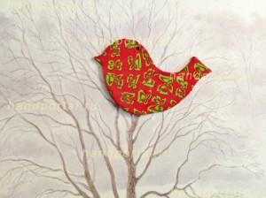 Весенняя птичка из полимерной глины