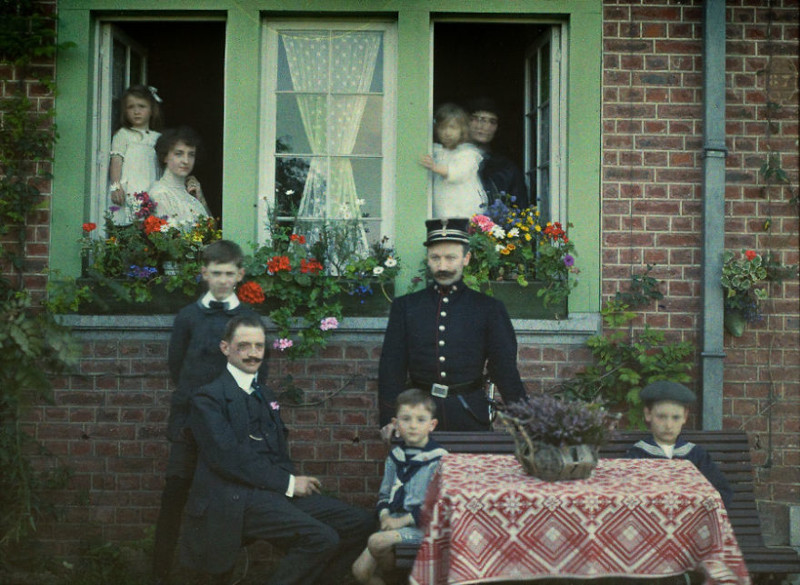 1913 год XX век, автохром, братья Люмьер, краски, столетие, фотографии, фототехника, цвет