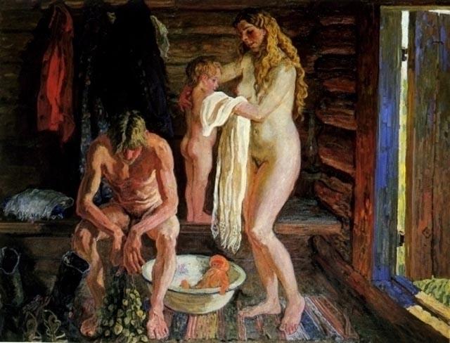 эротика как на руси мылись семьями в бане колготках всегда порадуют