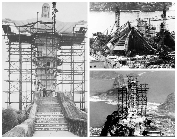 Как выглядели самые знаменитые сооружения мира во время их строительства архитектура