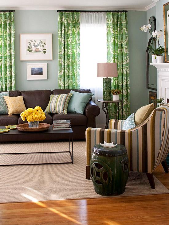 Очарование зеленого цвета в интерьере