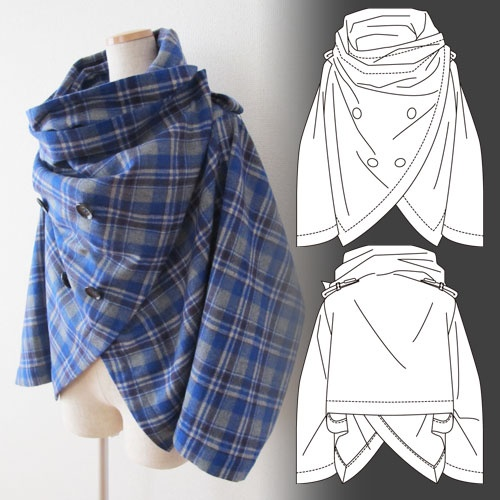 Бесплатные выкройки от японцев выкройка блузки,женские хобби,рукоделие,своими руками,шитье