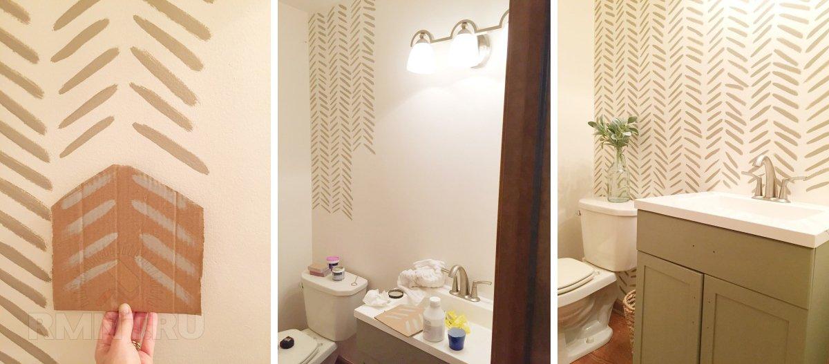 Интересные идеи декора стен краской для дома и дачи,интерьер