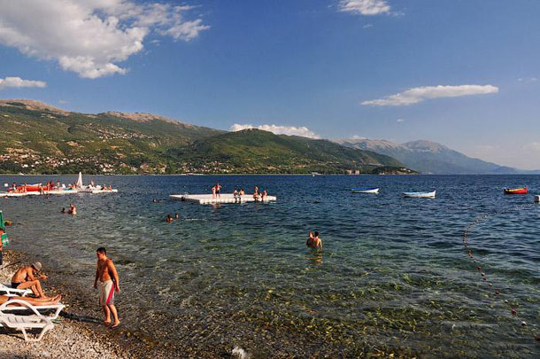 Охридское озеро и пляжи Охрида