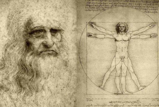 """""""Витрувианский человек"""" Леонардо да Винчи"""
