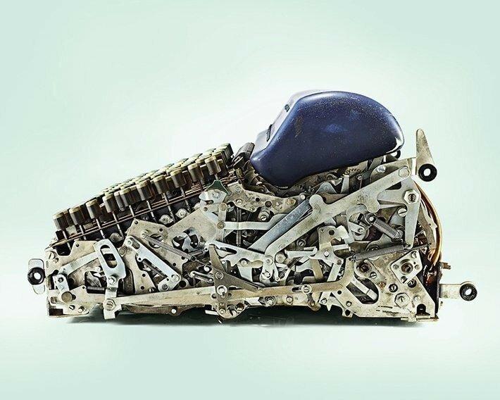 17. Нет, это не робот, это механический калькулятор вещи, внутри, изнутри, подборка, разрез, фото